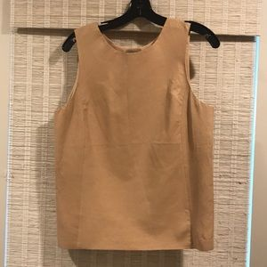 VINCE like new leather front top size 10.